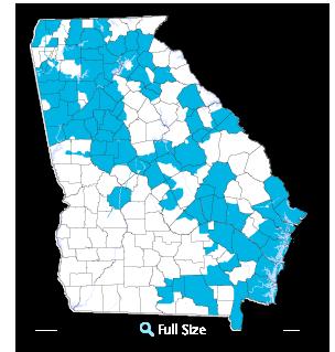 Georgia Natural Gas Service Map